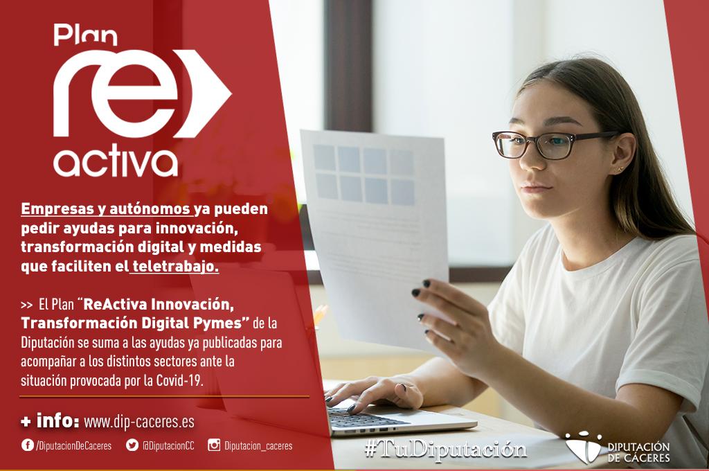 """El Plan """"ReActiva Innovación, Transformación"""