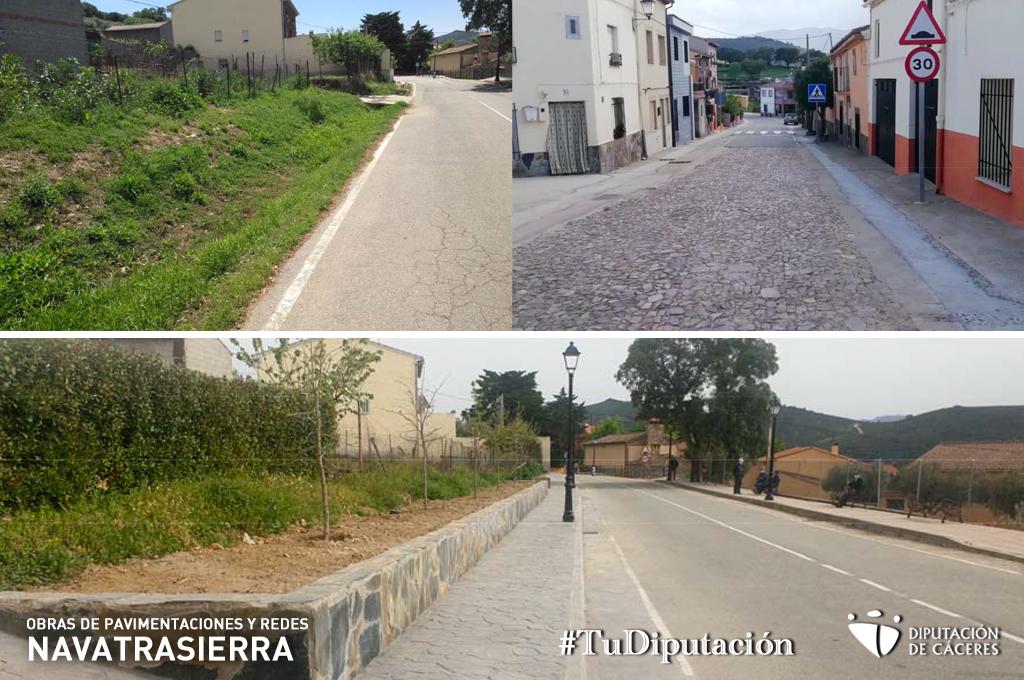 Finalizan las obras de pavimentaciones en Navatrasierra incluidas en el Activa 2020 de la Diputación de Cáceres