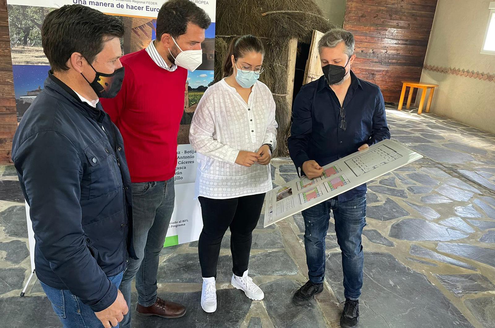 Arrancan en Herreruela las obras previstas en zonas rurales de la Red de Municipios Sostenibles de Cáceres