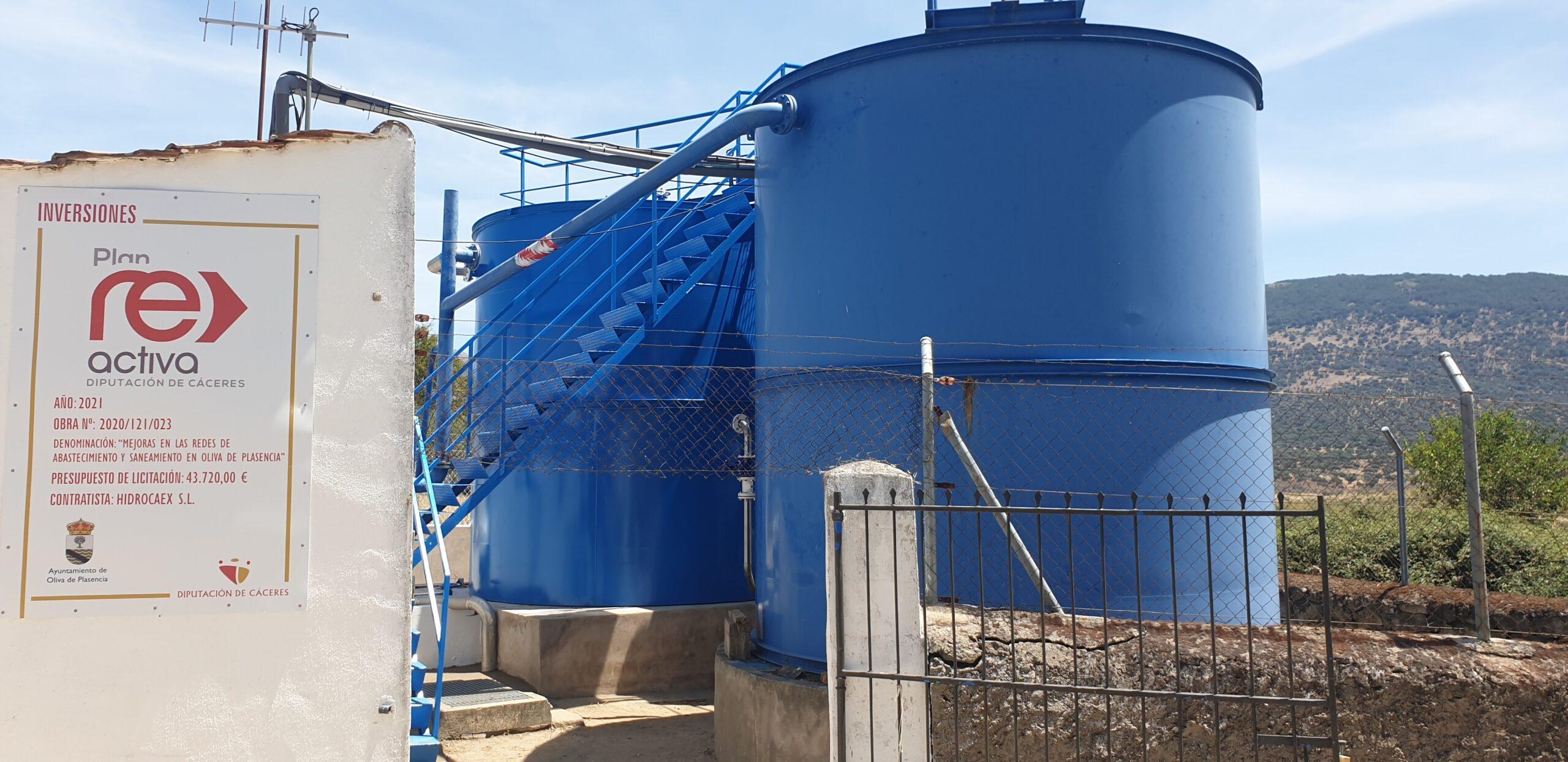 Finalizadas las obras en la Estación de Agua Potable de Oliva de Plasencia para mejorar su funcionamiento